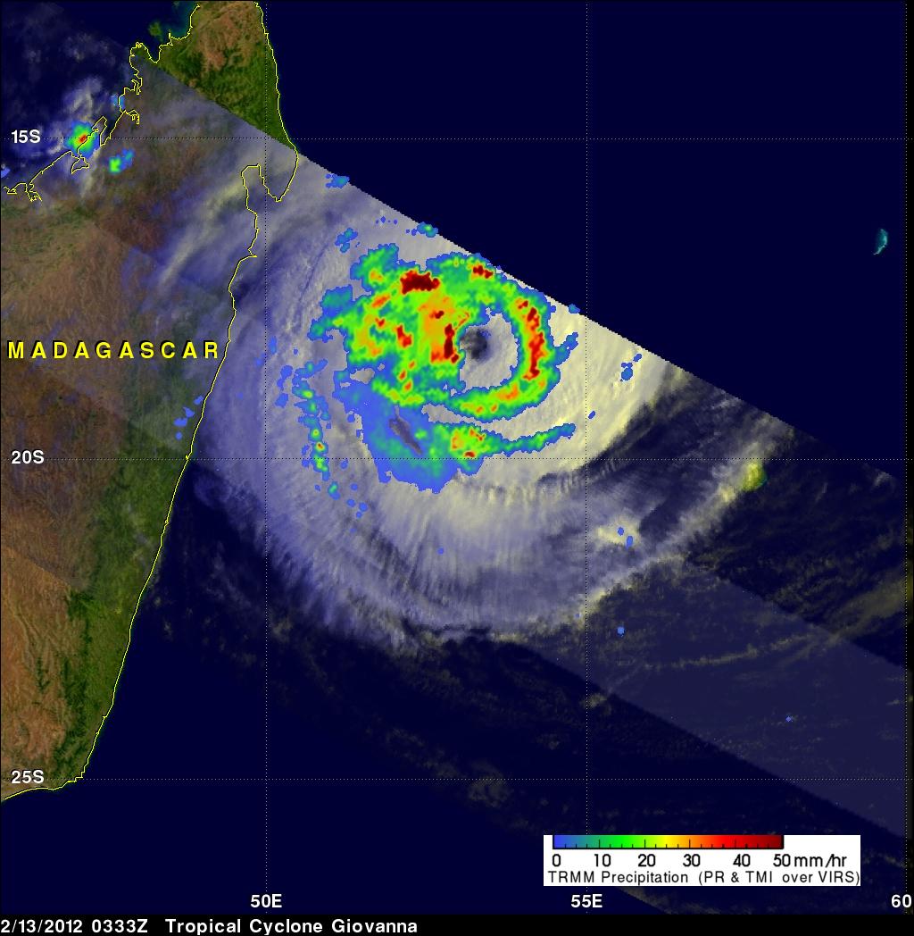 TRMM image of Giovanna near Madagascar