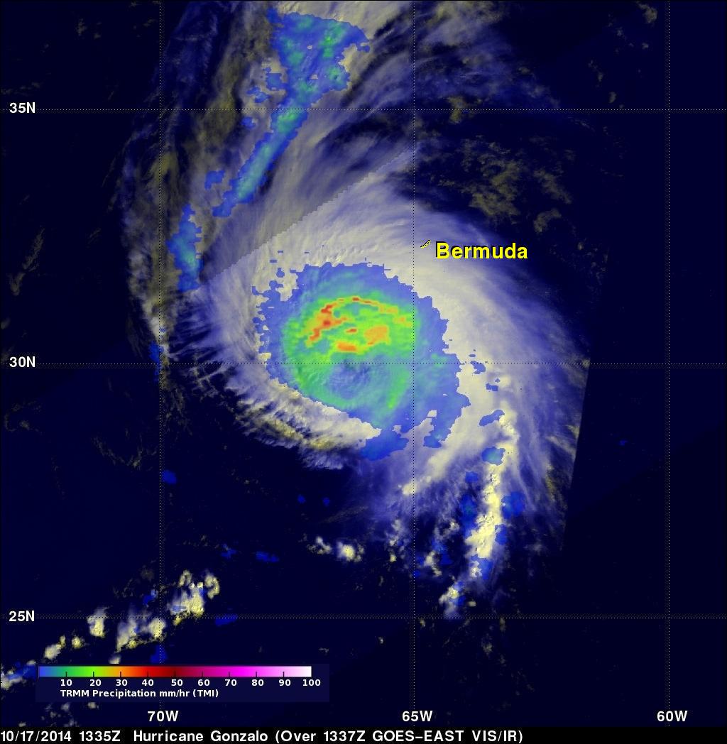 Powerful Hurricane Gonzalo Menacing Bermuda