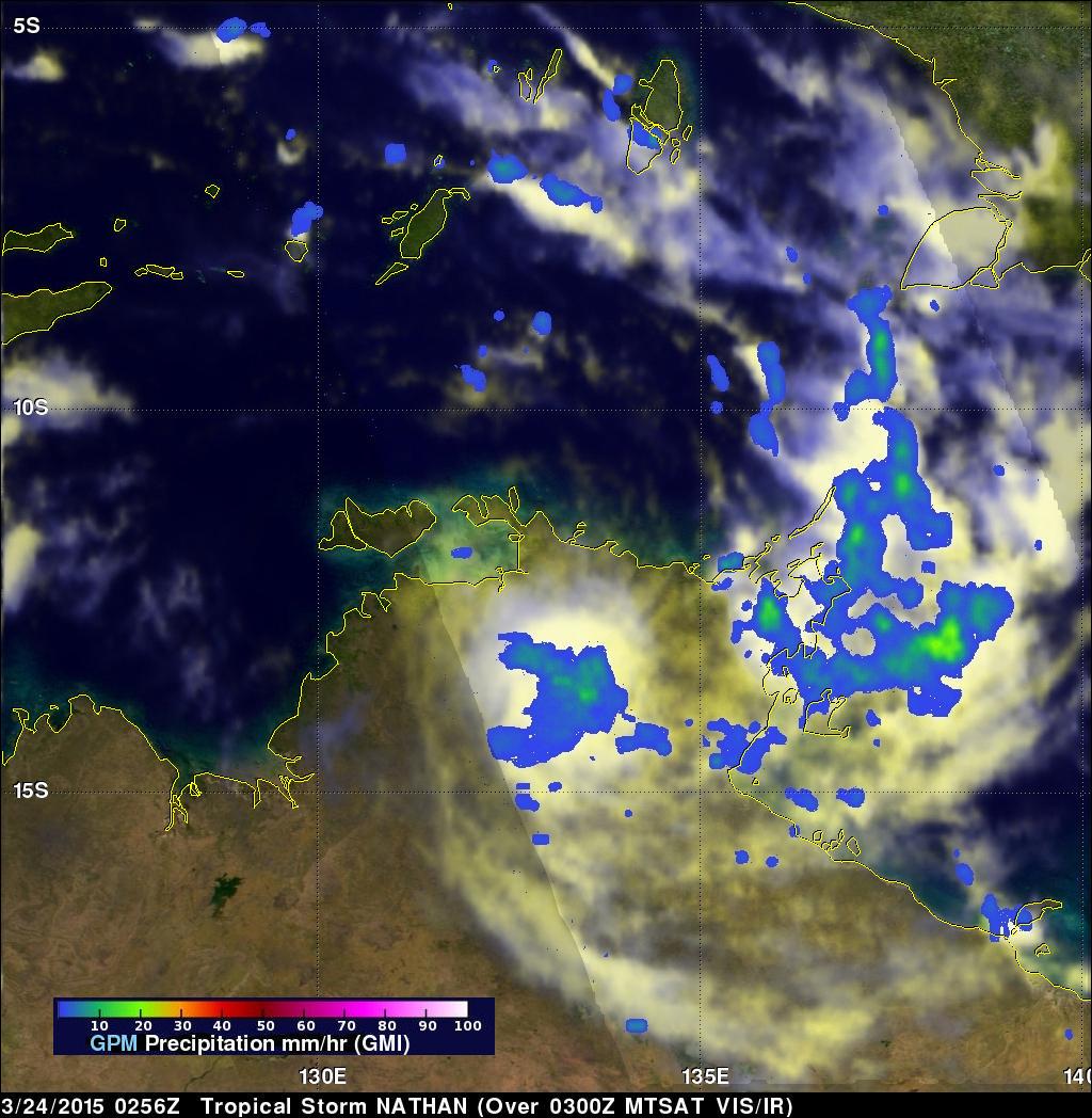 Cyclone Nathan Dissipates