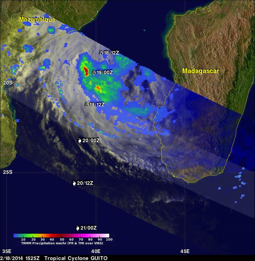 Tropical Cyclone Guito's Rainfall