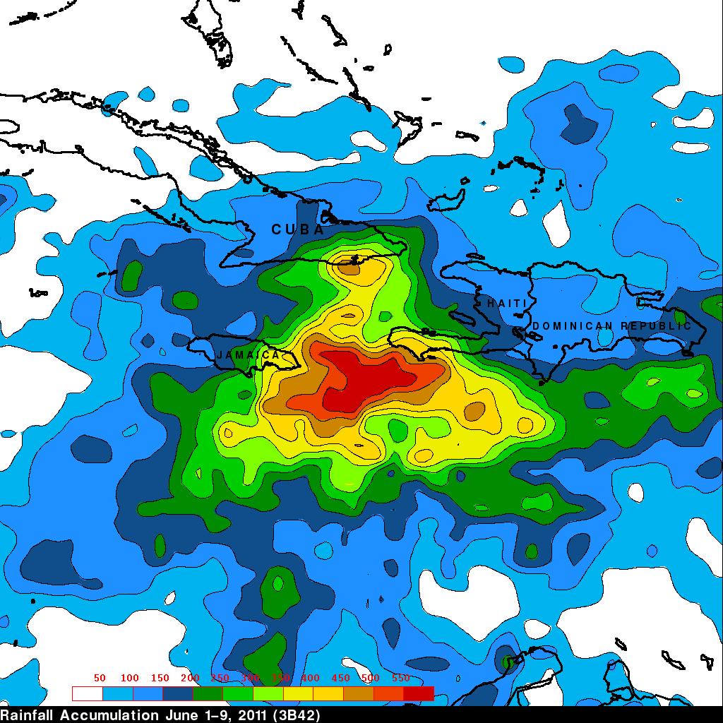 TRMM image of flooding in Haiti