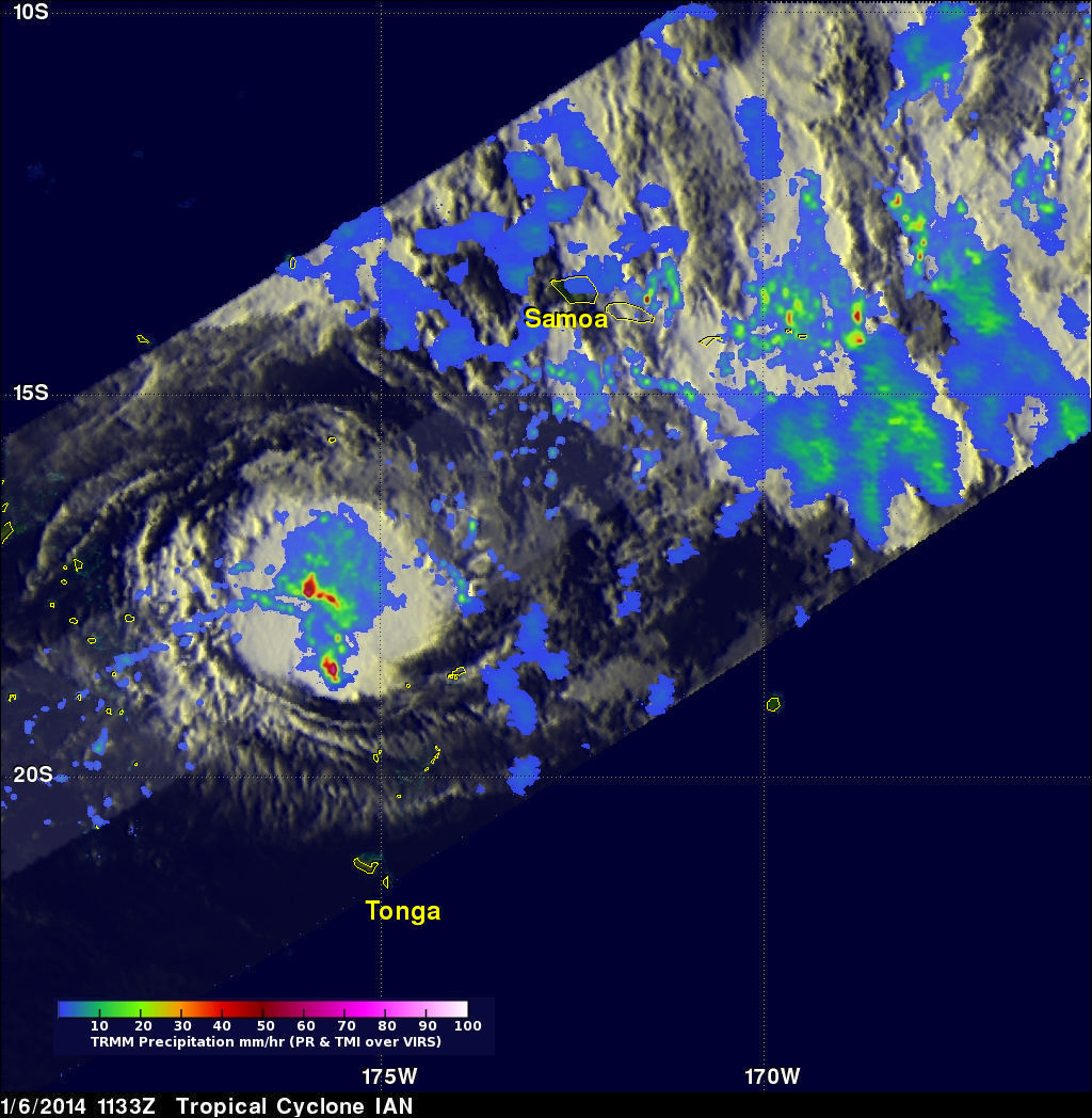 Ian, First 2014 South Pacific Tropical Cyclone