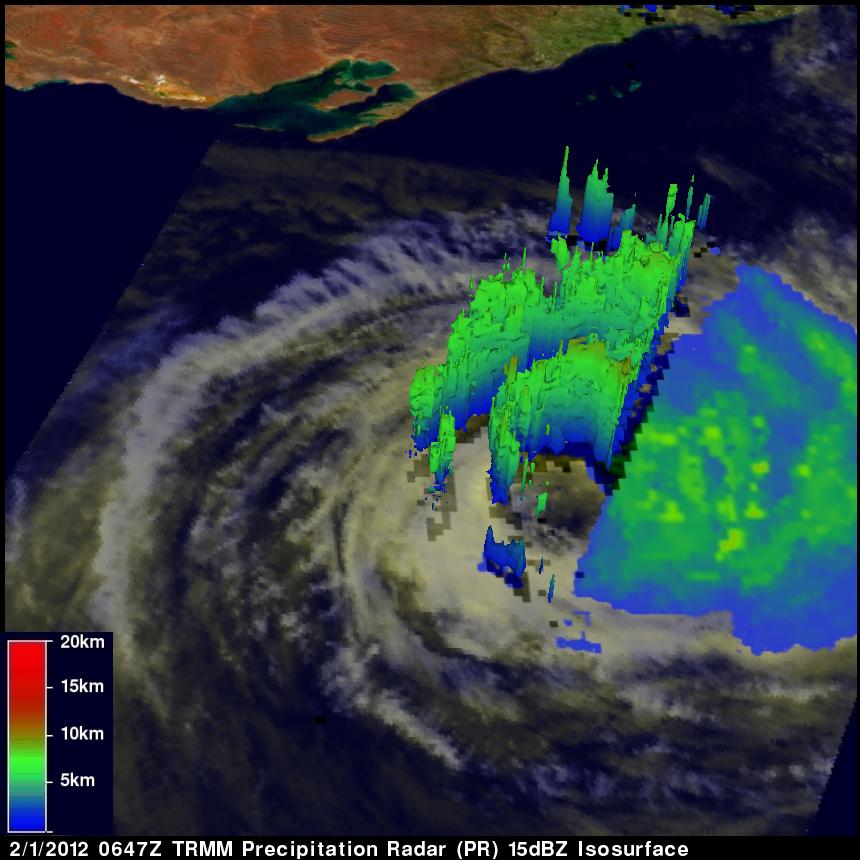 TRMM radar image of Tropical Cyclone Iggy