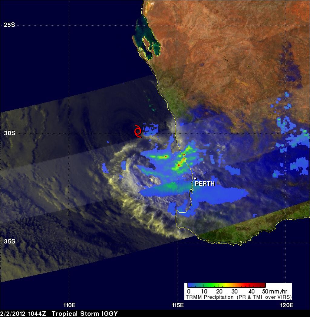 TRMM image of tropical cyclone Iggy