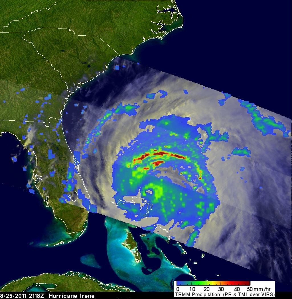 Hurricane Irene Approaching Cape Hatteras