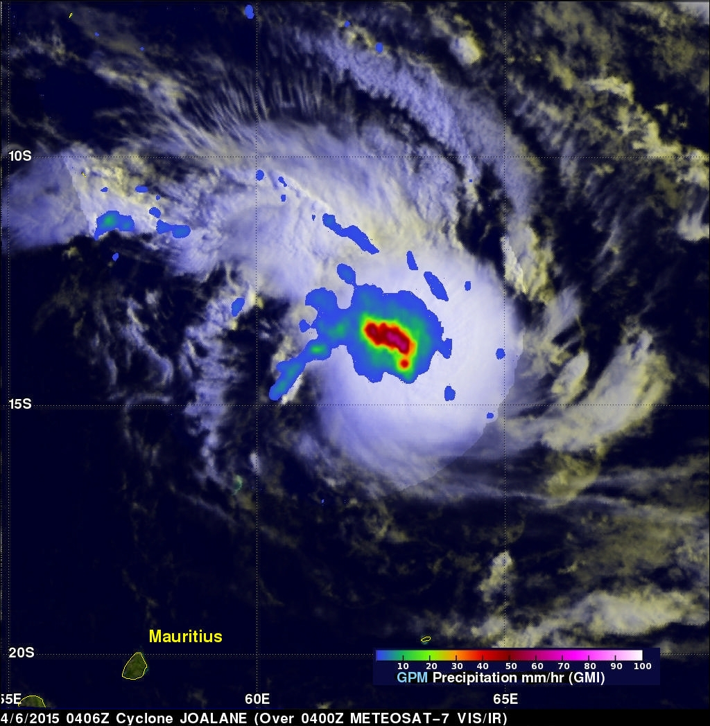GPM Measures Rain in Cyclone Joalane