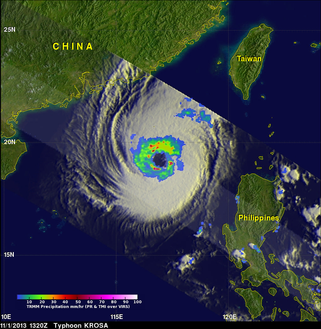 TRMM Has Second Look At Typhoon Krosa