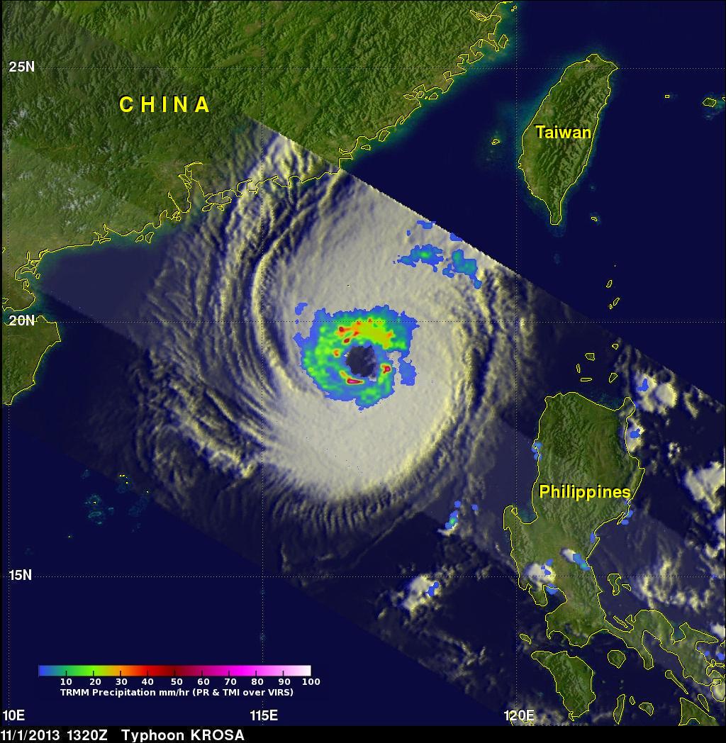 TRMM Has Second Look At Typhoon Krosa