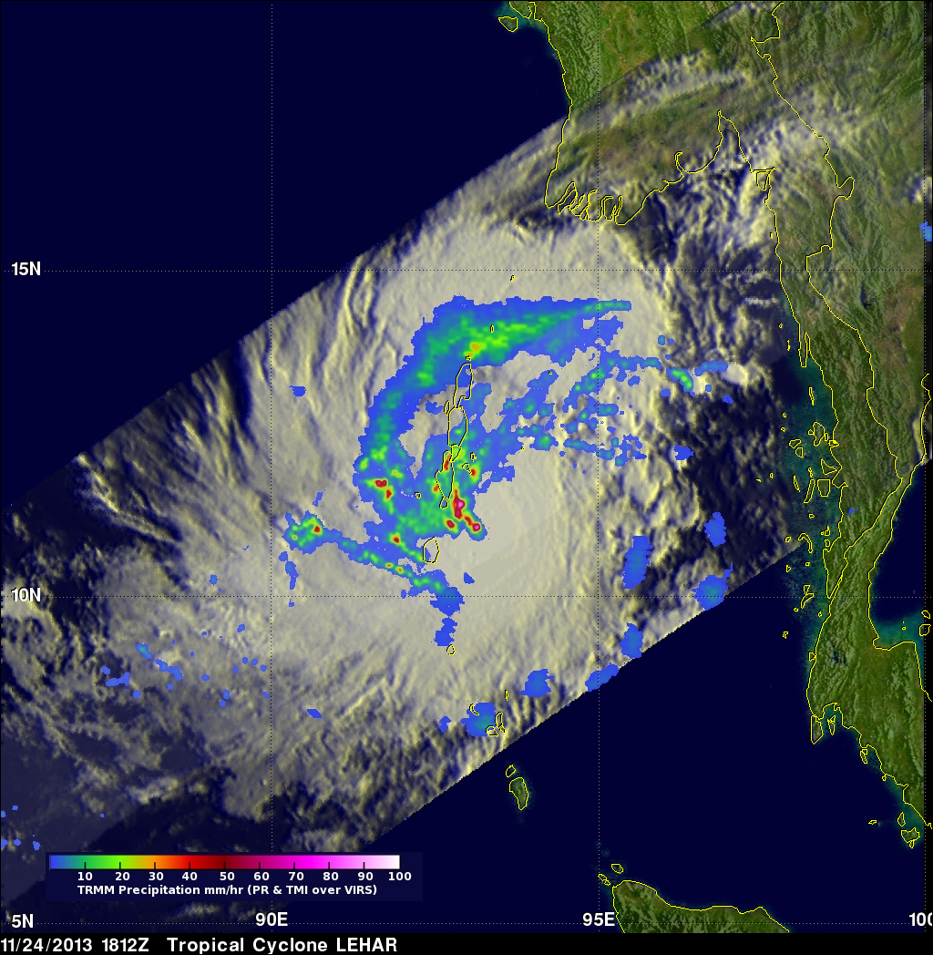 Tropical Cyclone Lehar In The Bay Of Bengal
