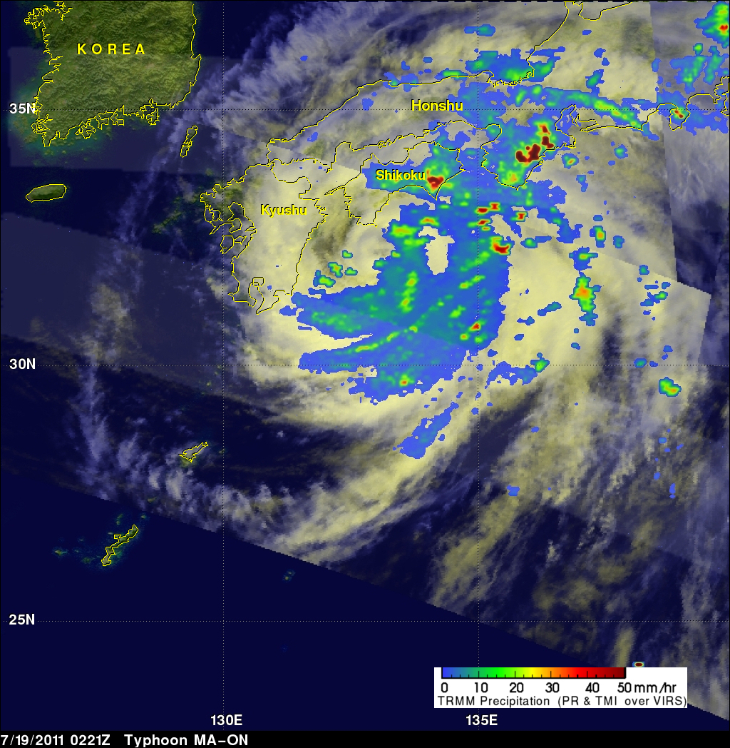 TRMM image of MA-ON over Japan
