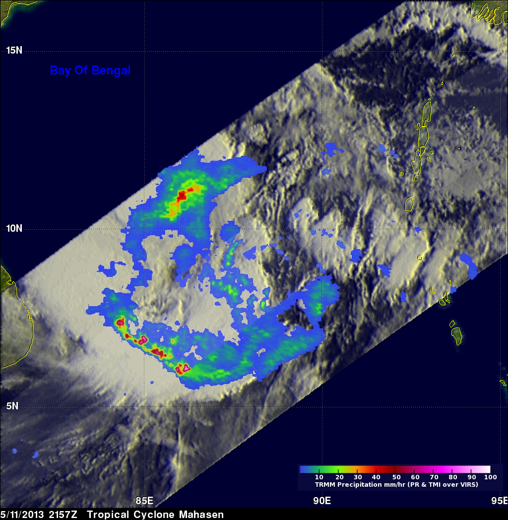 Tropical Cyclone Mahasen Moving Into The bay Of Bengal