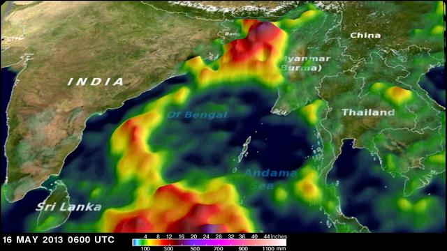 Deadly Tropical Cyclone Mahasen Comes Ashore