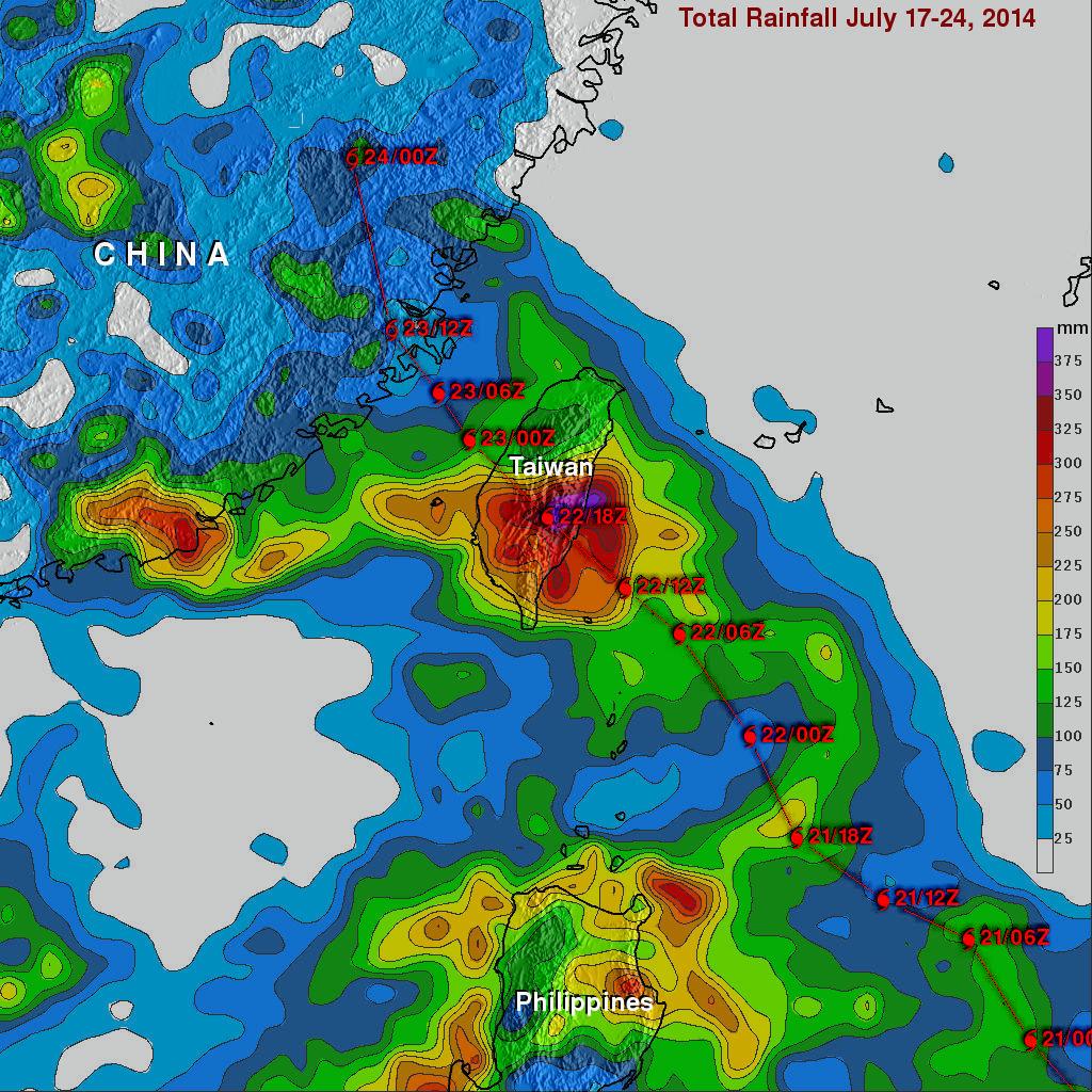 Typhoon MATMO Drenches Taiwan