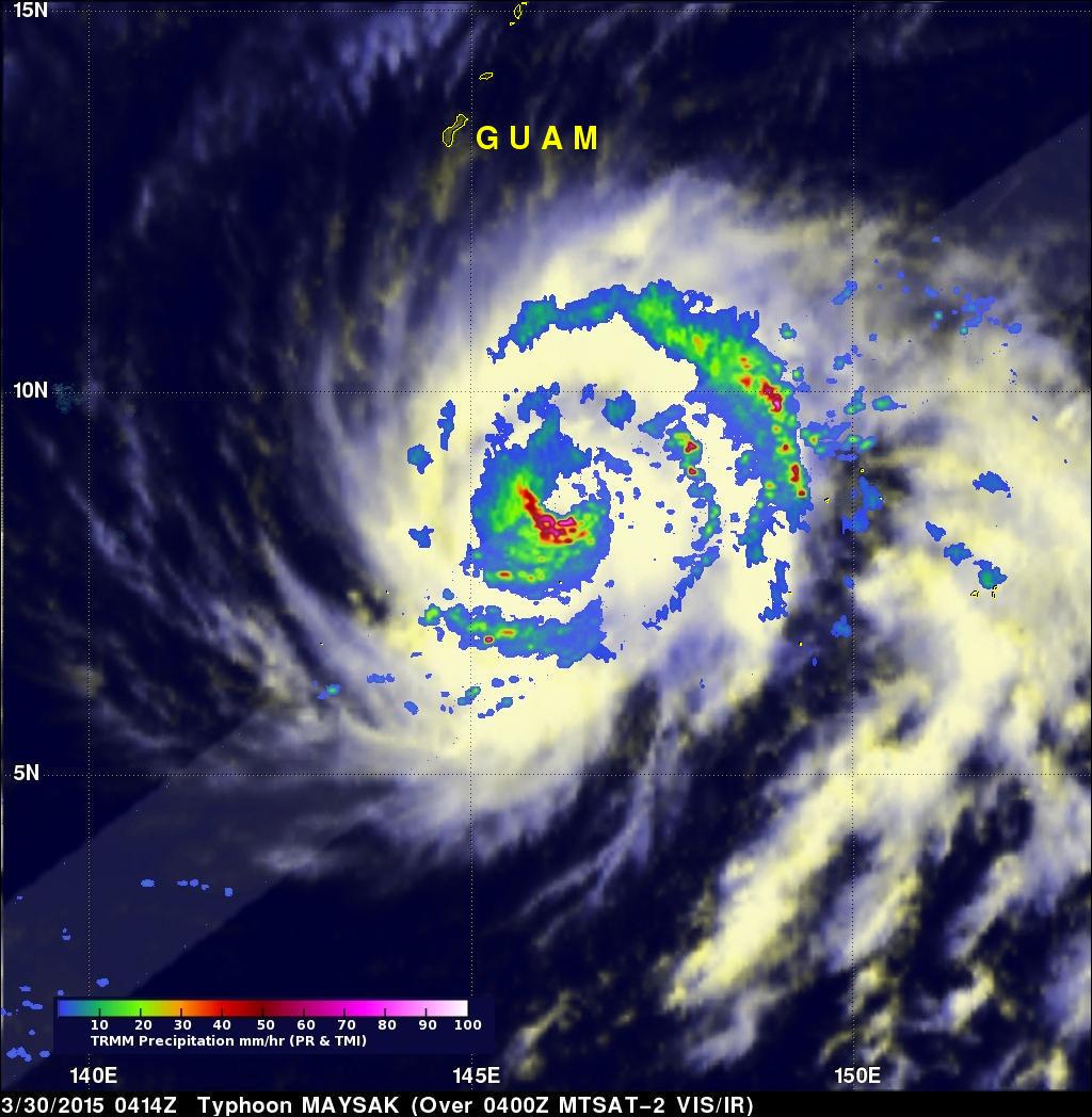 TRMM And GPM See Typhoon MAYSAK