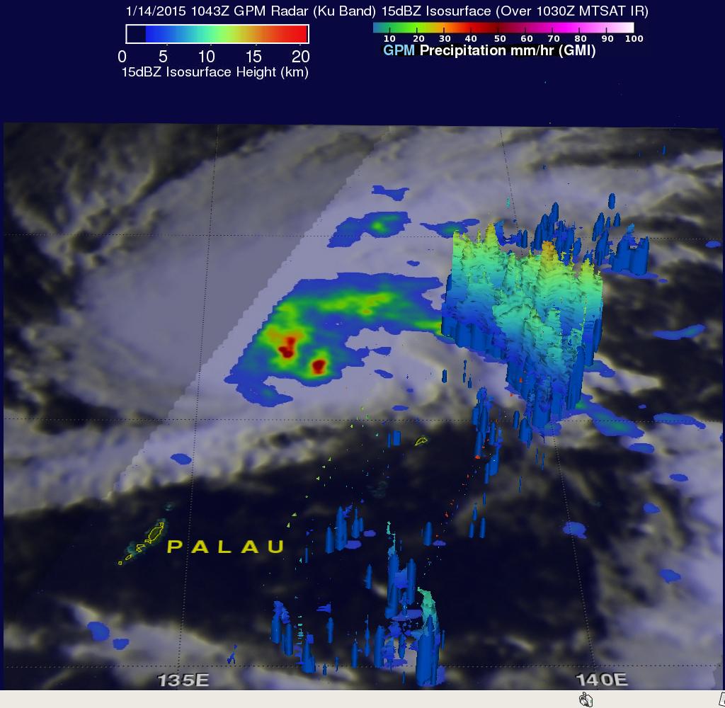 Tropical Depression Mekkhala Organizes