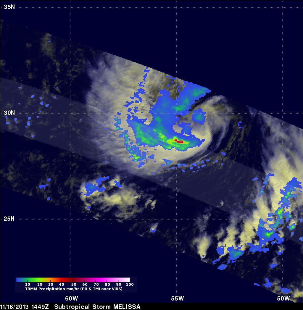 TRMM Views New Tropical Storm Melissa