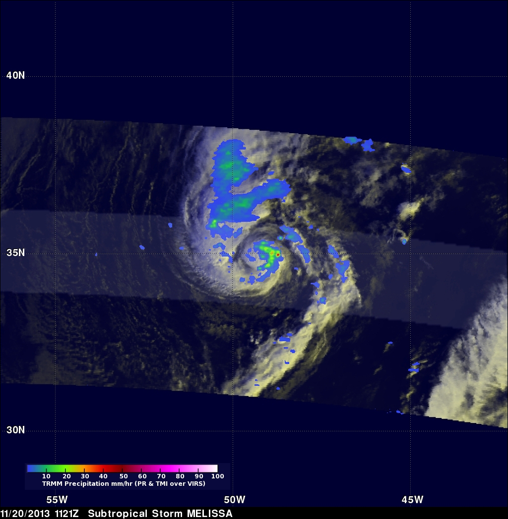 Morning View of Tropical Storm Melissa