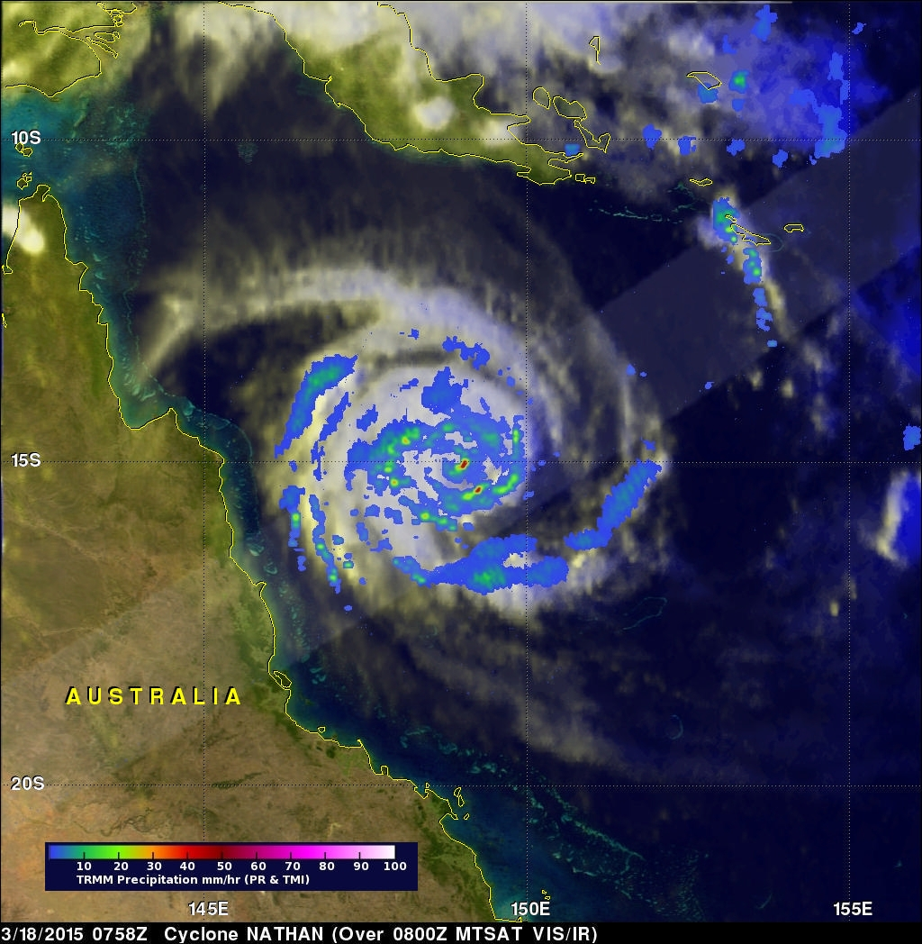 Cyclone Nathan Circles Back