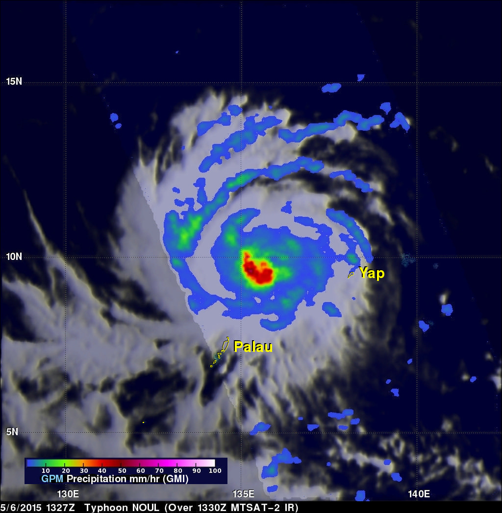 Typhoon Noul Beginning to Strengthen in the West Pacific
