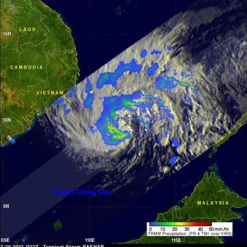 TRMM image of Typhoon Pakhar