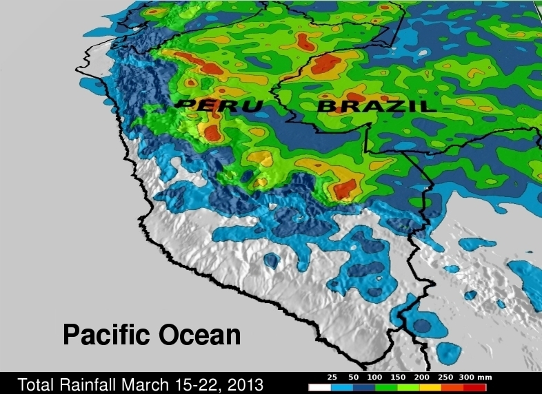 Flooding in Eastern Peru, Dry in the West