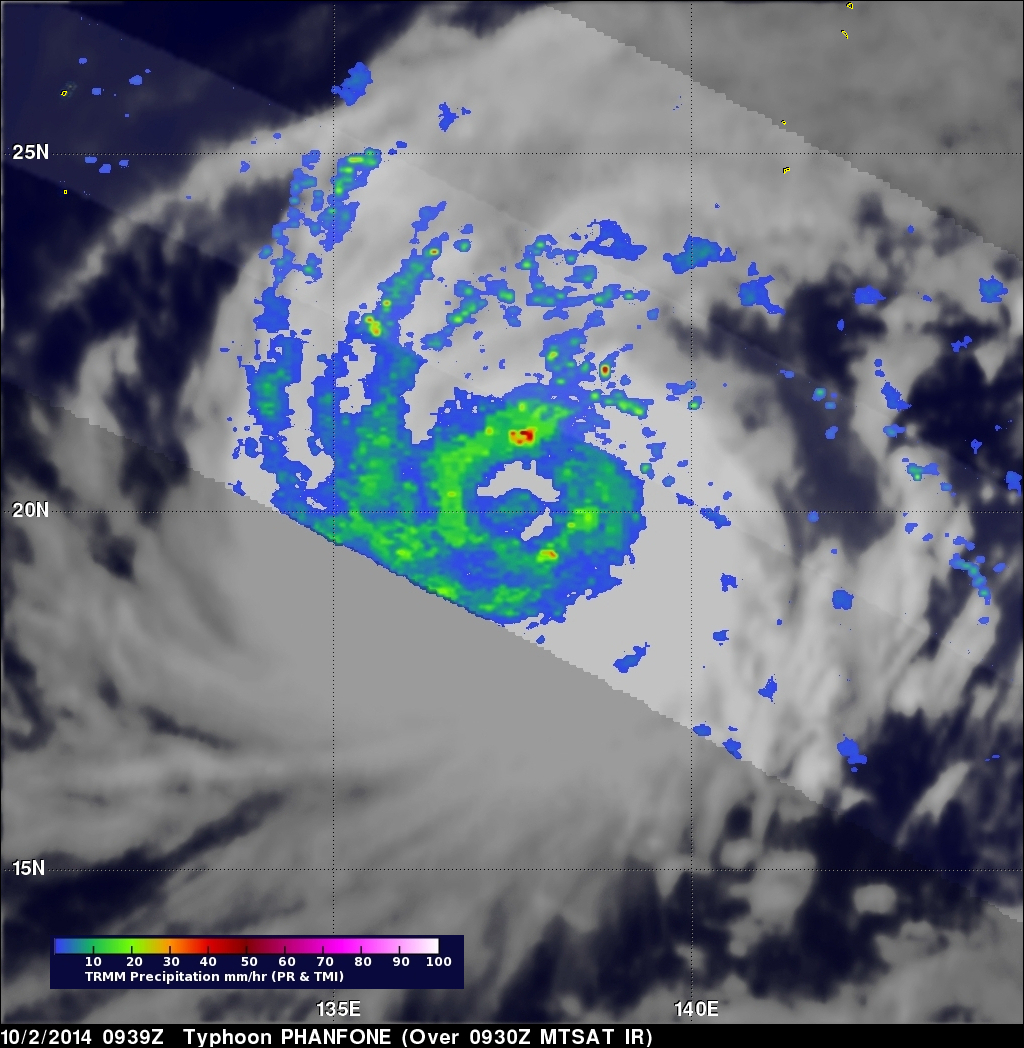 Typhoon Phanfone Becomes More Powerful