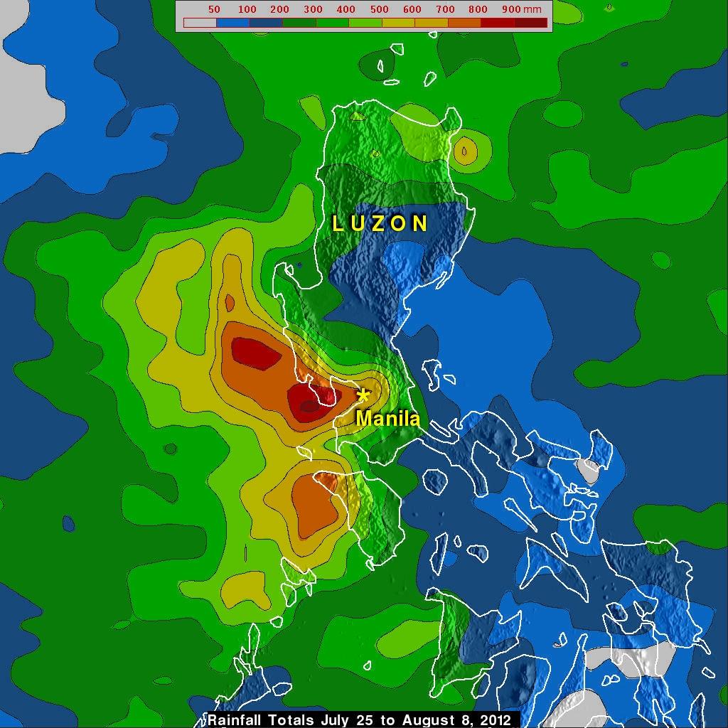 TRMM rain map of Manila