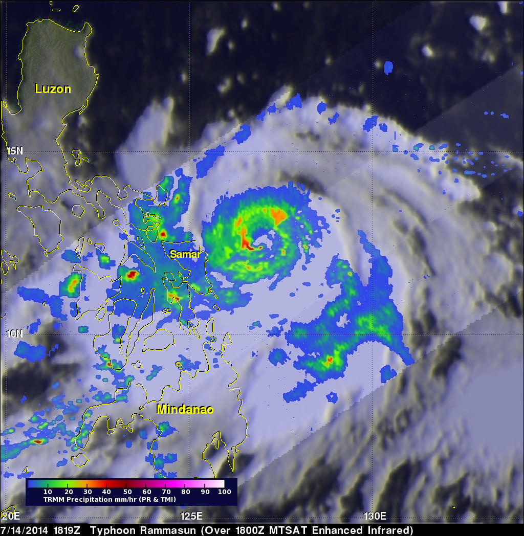 Typhoon Rammasun Strikes The Philippines