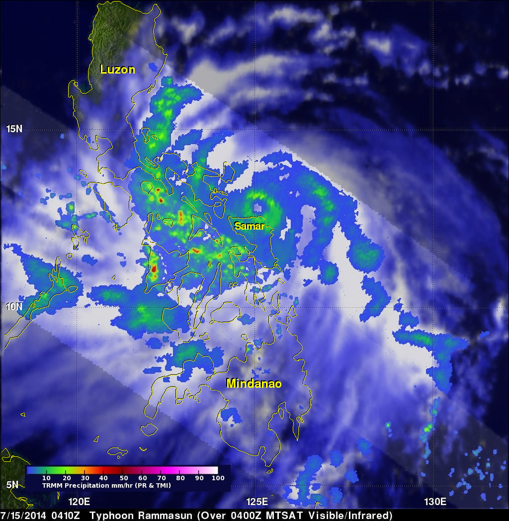 Typhoon Rammasun Strikes The Phillipines