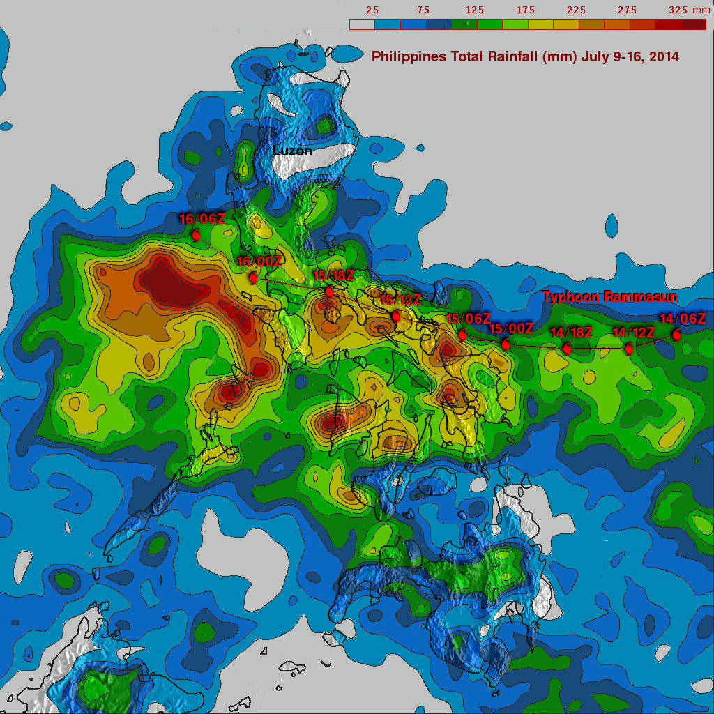 Deadly Typhoon Rammasun Crosses The Phillipines
