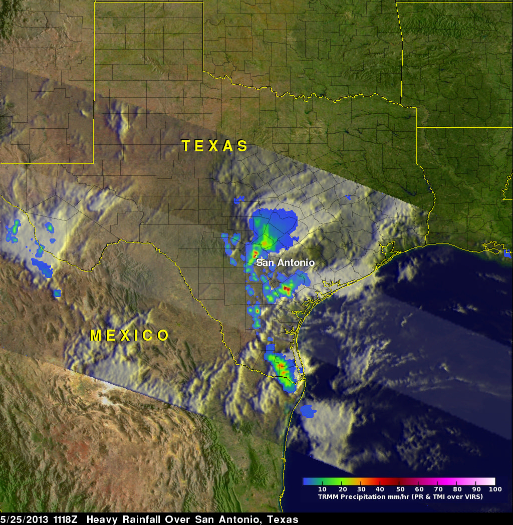 TRMM Sees Powerful Storm Over San Antonio
