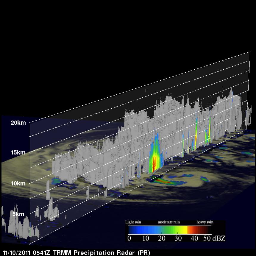 TRMM radar image of tropical storm Sean