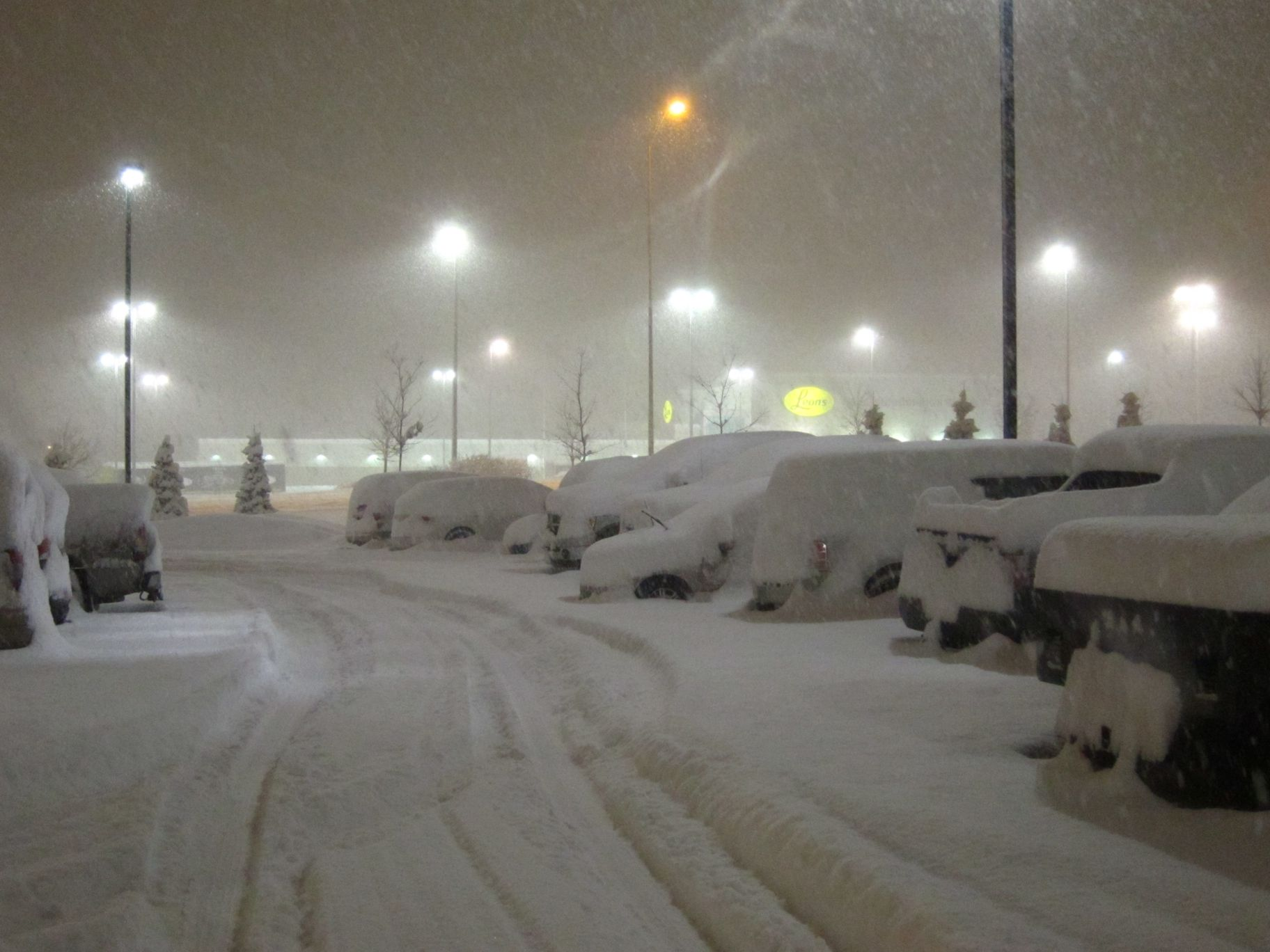 Snow covered cars at  GCPEx