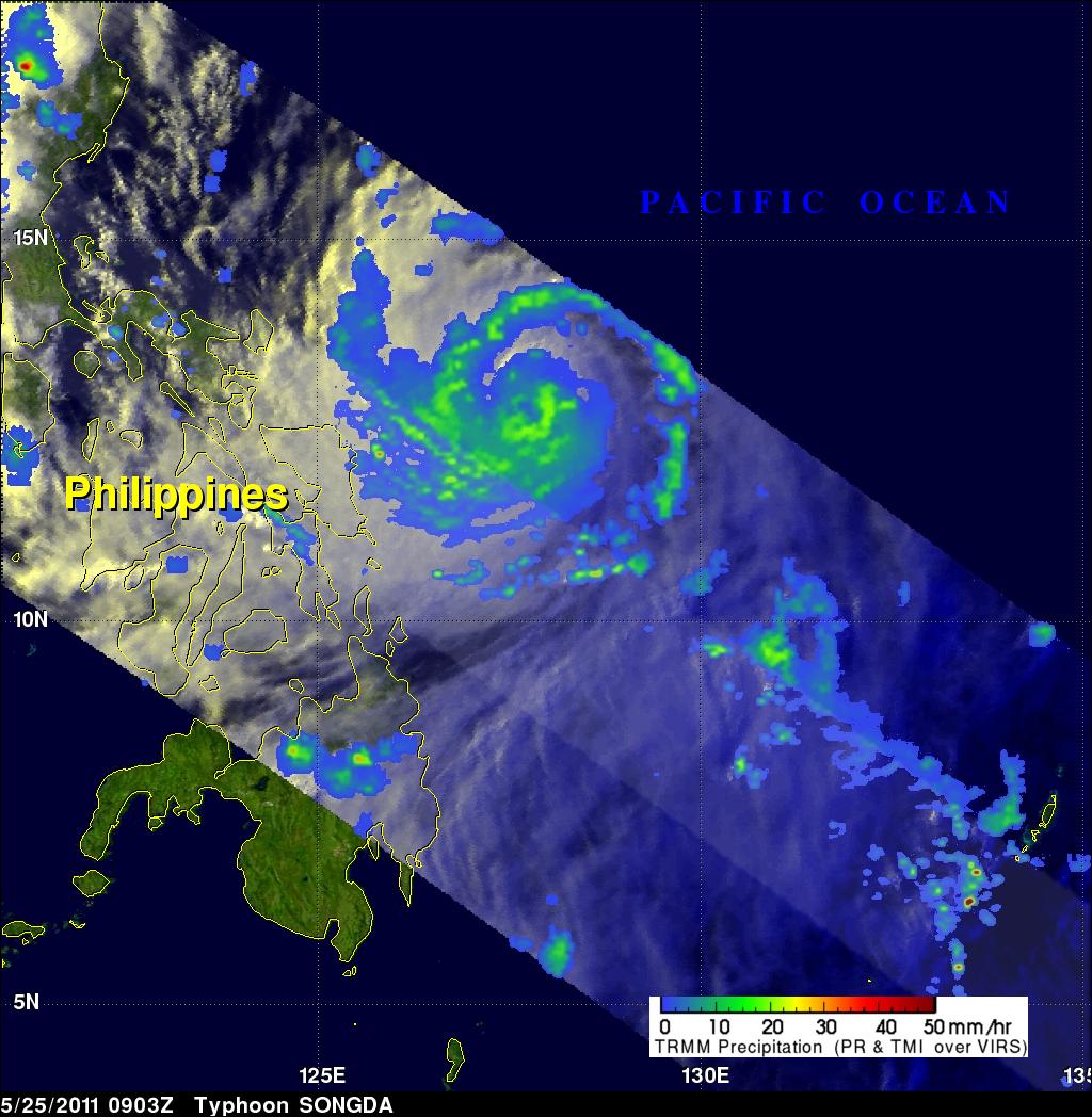 TMI image of Typhoon Songda