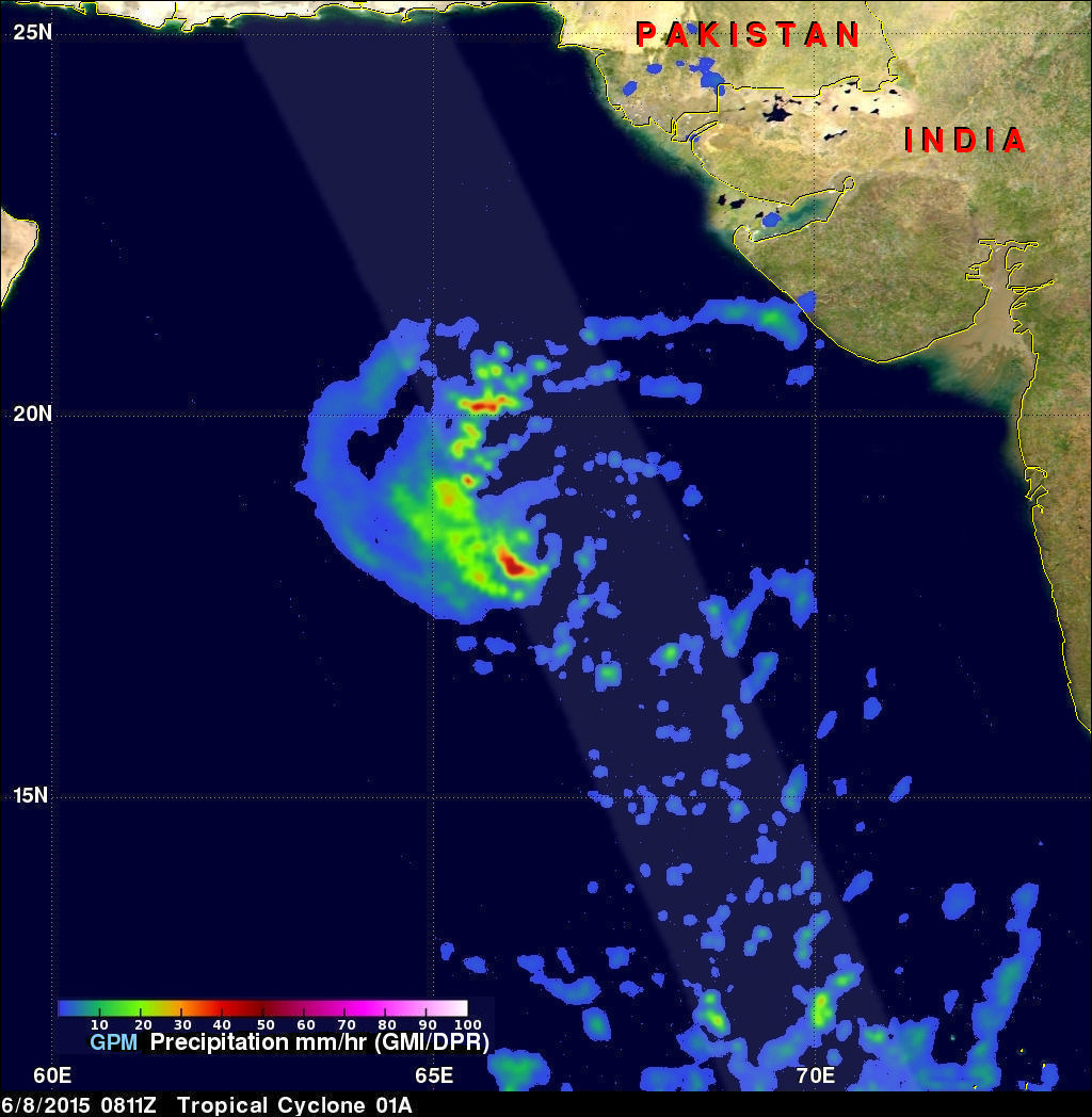 GPM Flys Over Tropical Cyclone In Arabian Sea