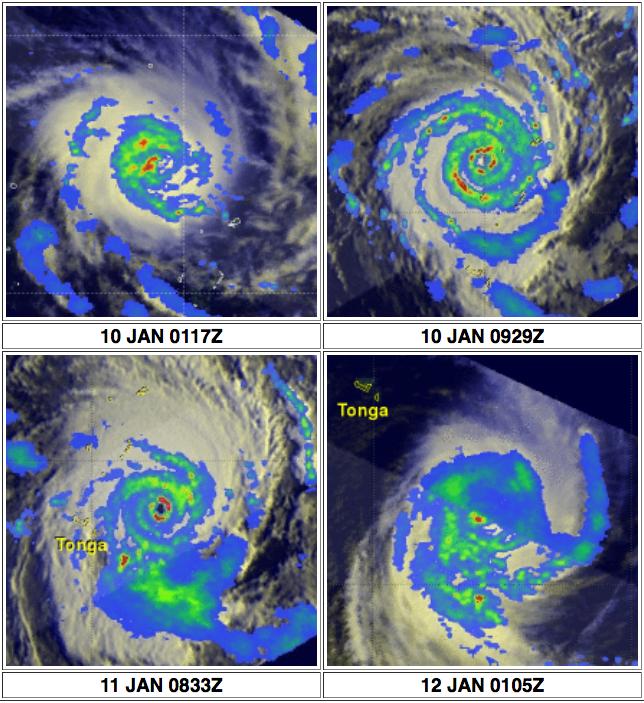 TRMM's Sees Deadly Ian Hitting Tonga