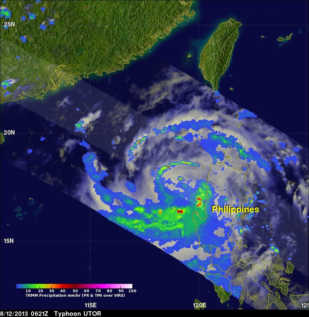 Typhoon UTOR Hits The Philippines