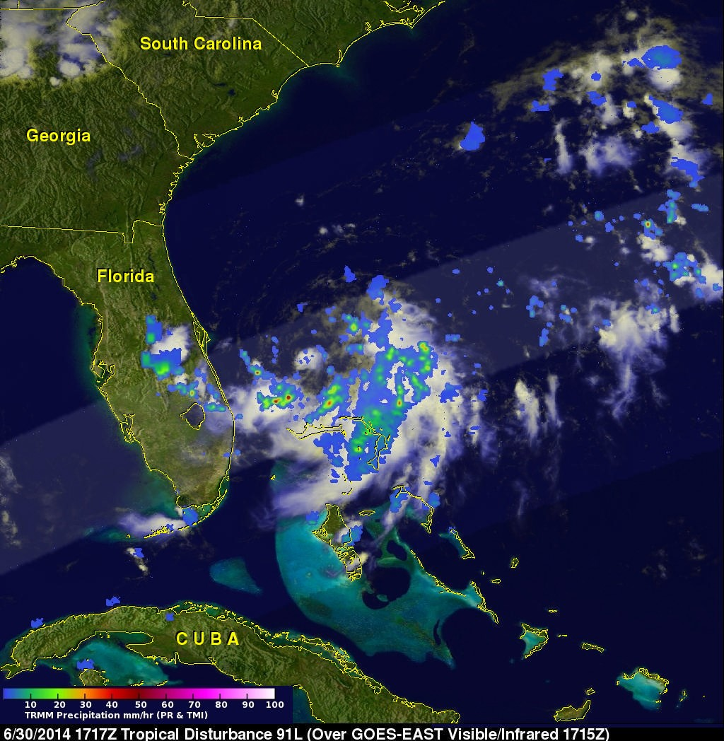 TRMM image of Hurricane Arthur