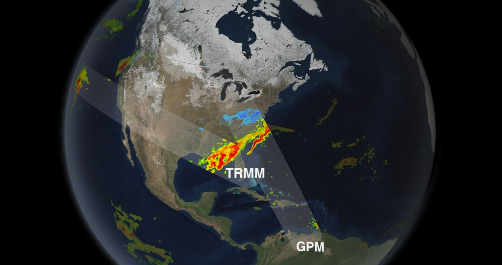GPM and TRMM swaths