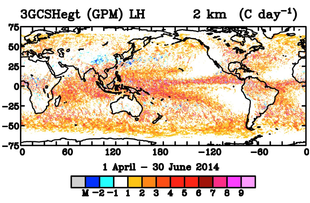 GPM latent heating data
