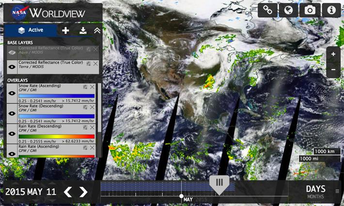 NASA Worldview   Precipitation Measurement Missions