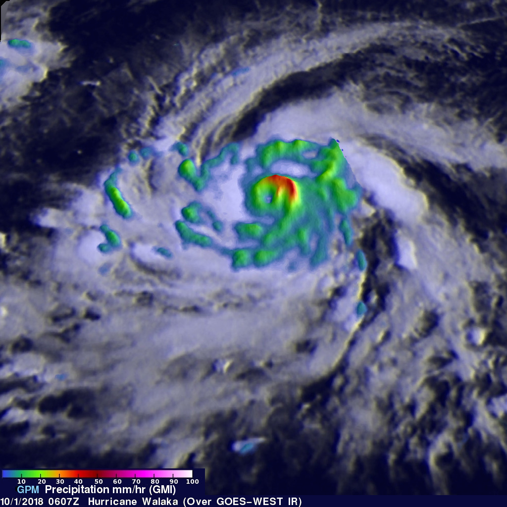 GPM Sees Walaka Becoming A Powerful Hurricane