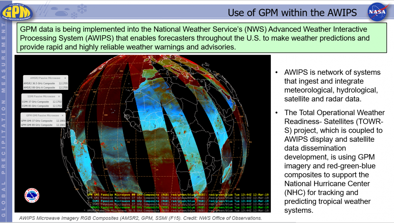 Use of GPM within the AWIPS