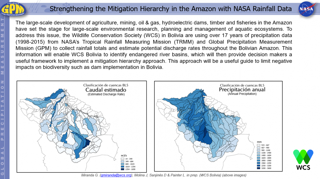 Strengthening the Mitigation Hierarchy in the Amazon with NASA Rainfall Data
