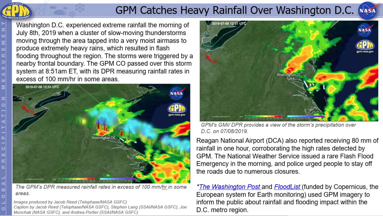 GPM Catches Heavy Rainfall Over Washington D.C.