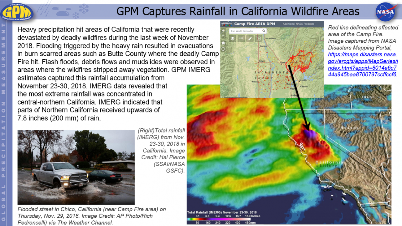 GPM Captures Rainfall in California Wildfire Areas
