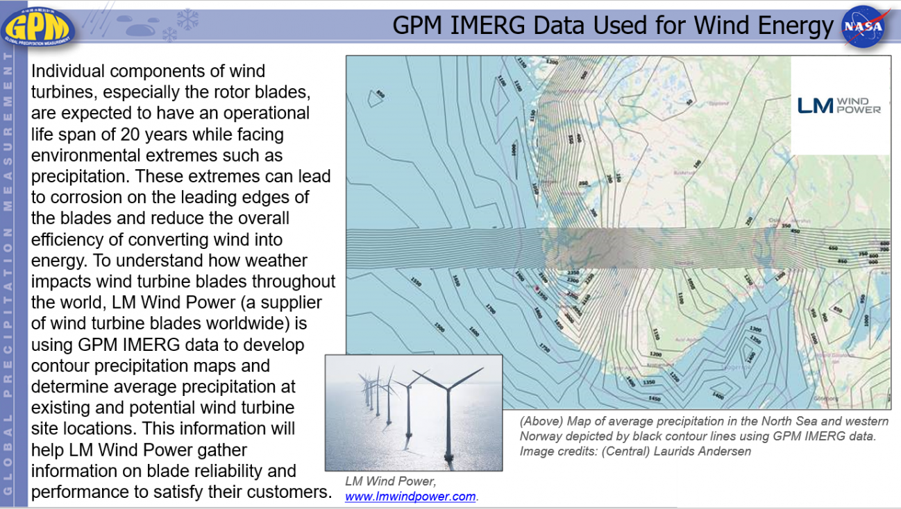 GPM IMERG Data Used for Wind Energy