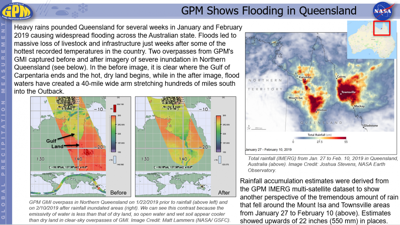 GPM Shows Flooding in Queensland