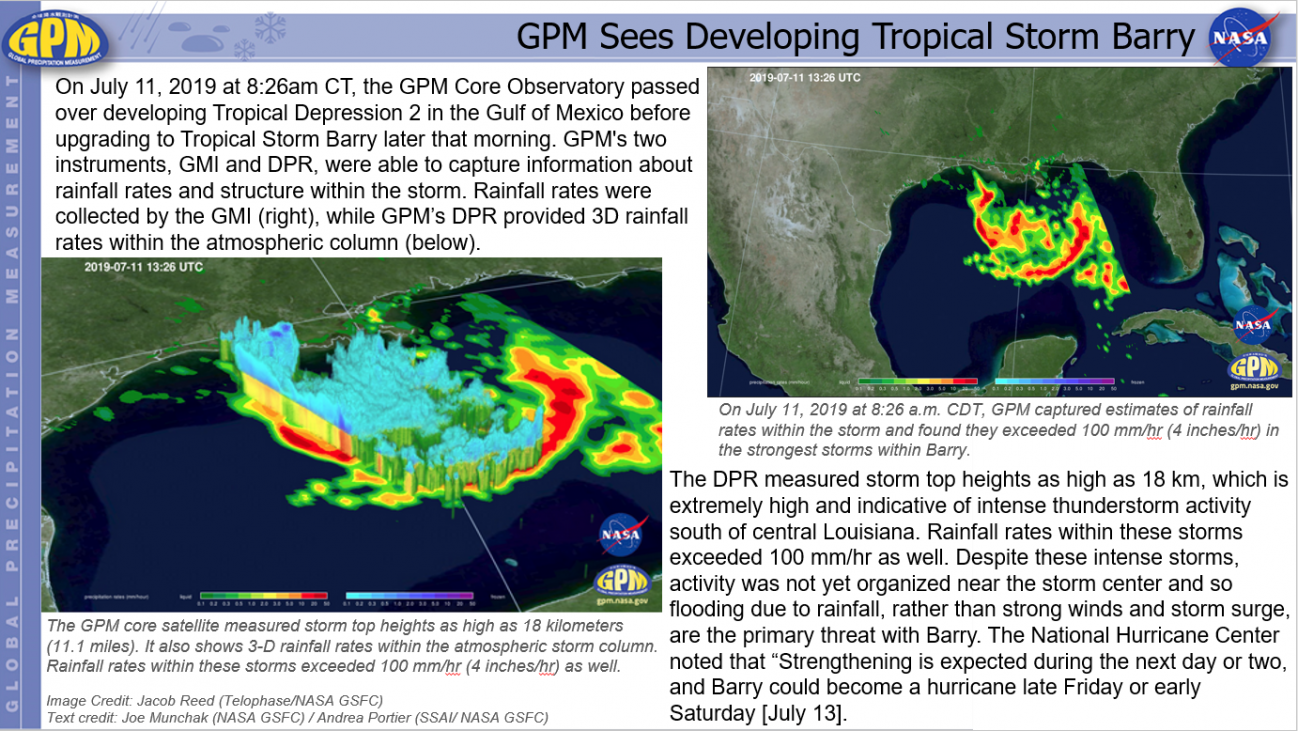 GPM Sees Developing Tropical Storm Barry