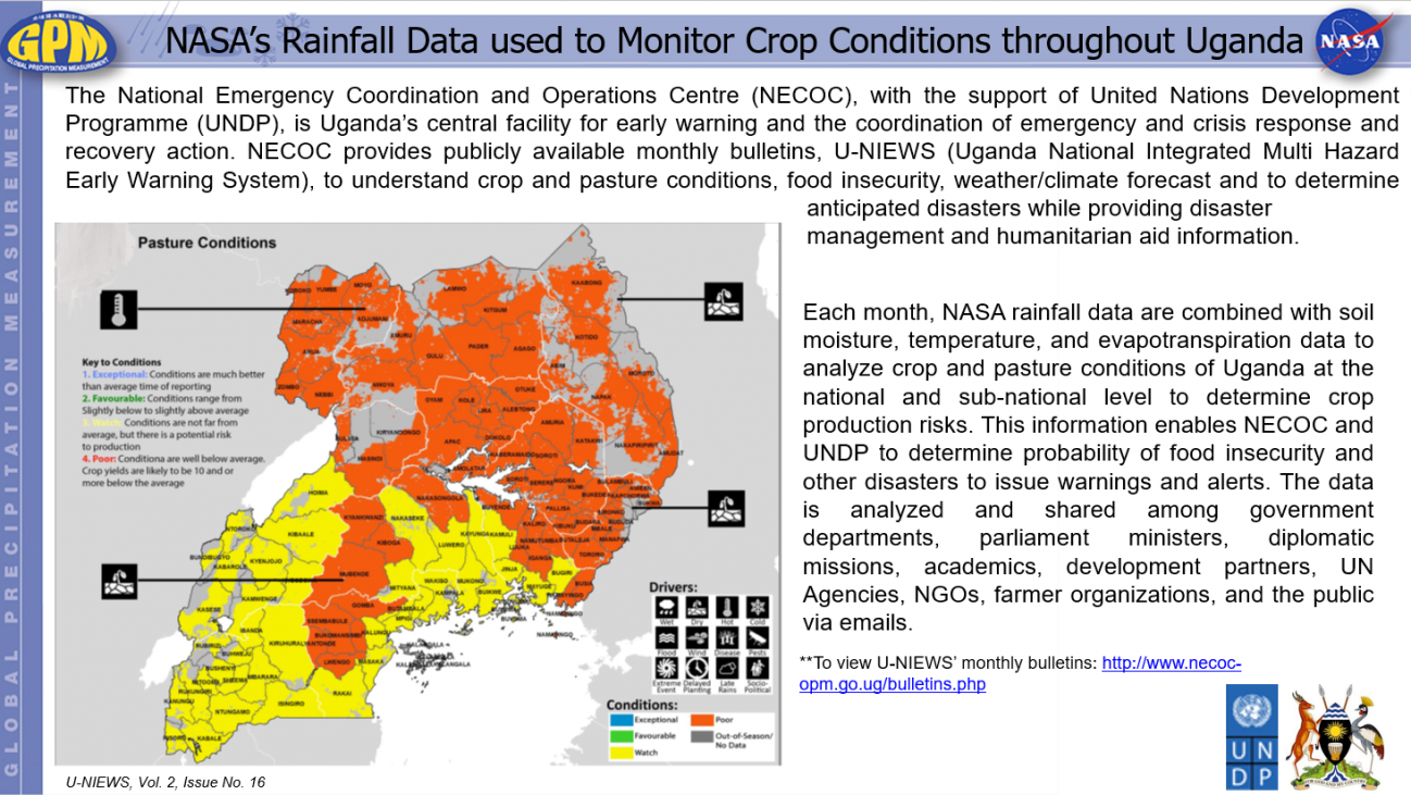 NASA's Rainfall Data used to Monitor Crop Conditions throughout Uganda